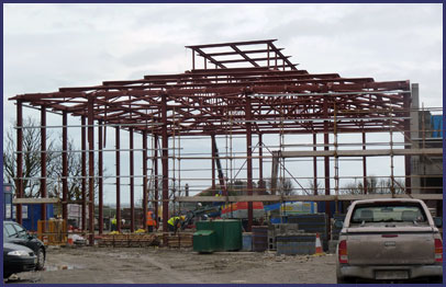 sports hall steel frame