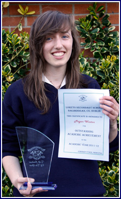 Megan Weston TY Student of the Year