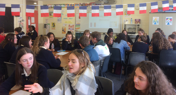 french students visit